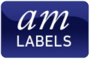am labels logo